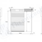 disegni tecnici dei portoni per capannoni industriali modello classic