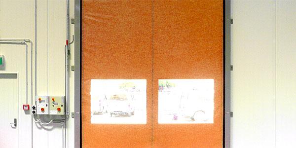 Porta serranda combinata vista interna
