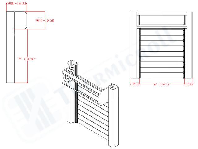 disegni tecnici delle chiusure industriali modello spiral door iso 80