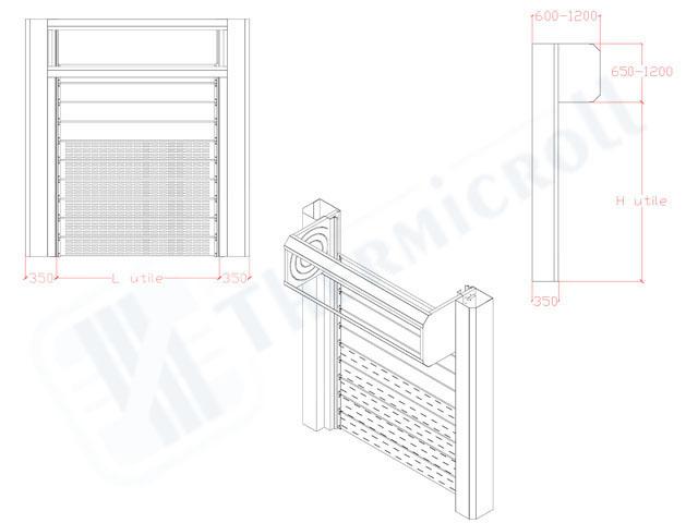 proiezione delle serrande avvolgibili thermicroll air flow