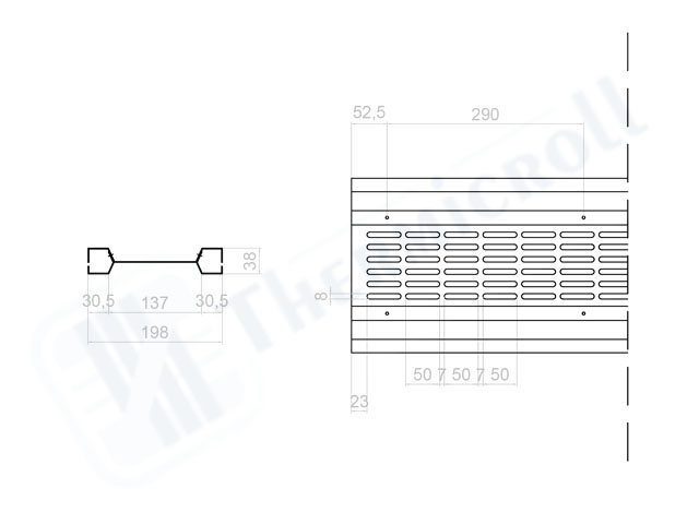 sezione serrande microforate