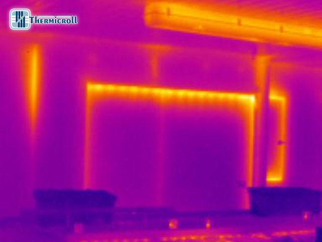 test termocamera per testare il coefficiente di isolamento delle porte coibentate