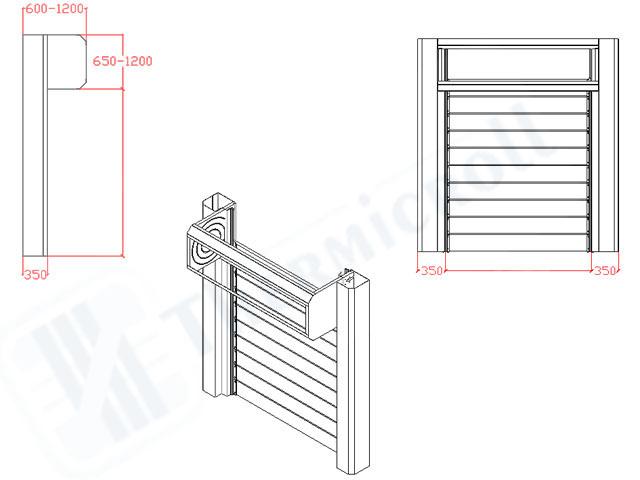 disegni tecnici delle chiusure industriali rapide thermicroll spiral door 40