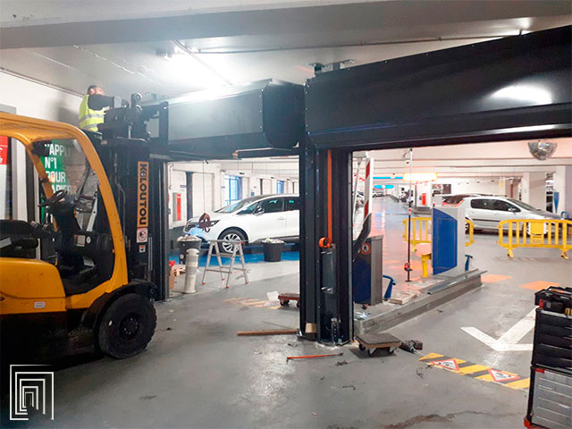serrande per parcheggi montaggio