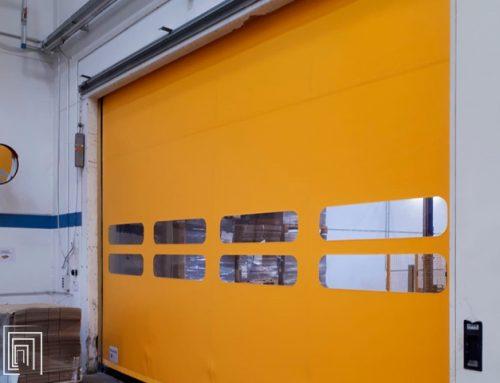 Porte rapide a Genova per il settore alimentare: installazione per un pastificio