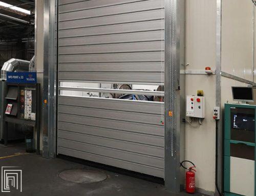Porta avvolgibile su misura a Tivoli per Trelleborg Wheel Systems