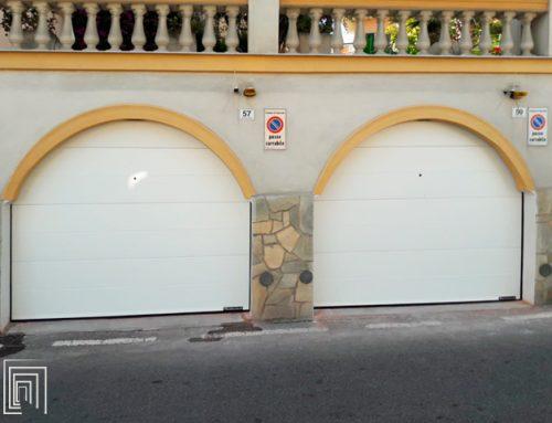 Portoni sezionali per garage: nuova installazione Thermicroll a Sanremo