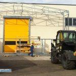 montaggio del tunnel mobile e delle chiusure industriali rapide in Umbria