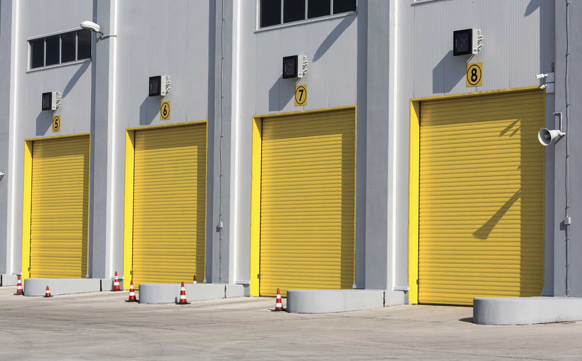 porta serranda industriale