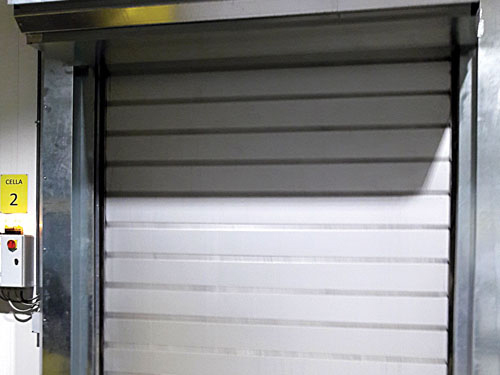 Insulated Industrial Doors Spiral 80 Cold Room Thermicroll