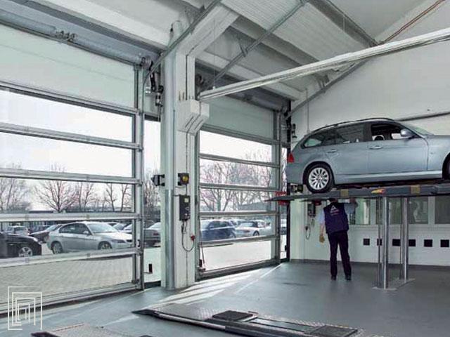 porte sezionali industriali per garage e capannoni