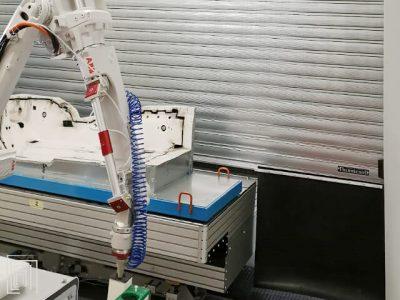 porta avvolgibile per cabina marchiatura laser