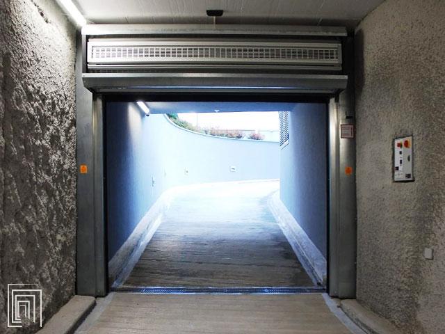 porta avvolgimento garage sotterraneo