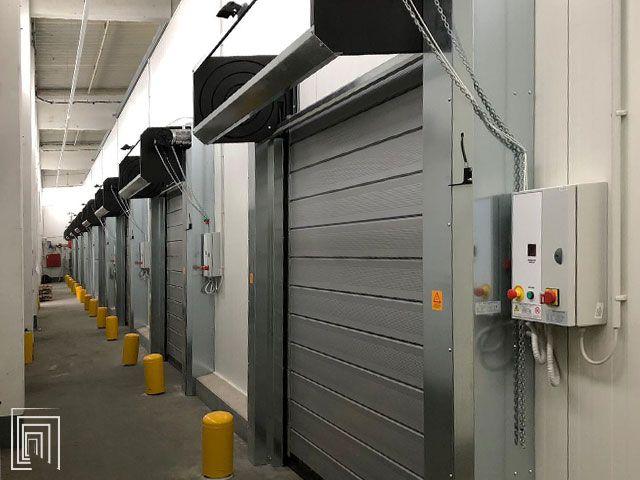 porte coibentate avvolgibili per magazzino aldi