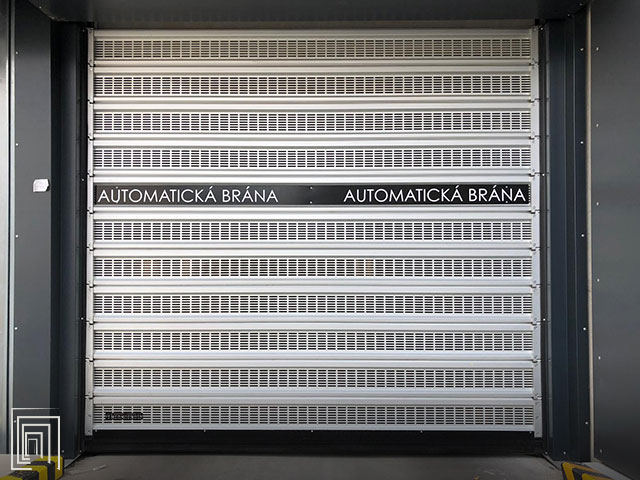 porta garage microforata