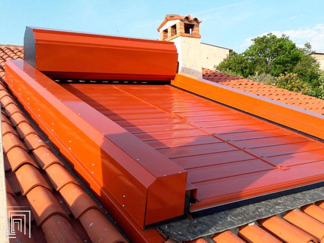 coperture spirali per tettoie